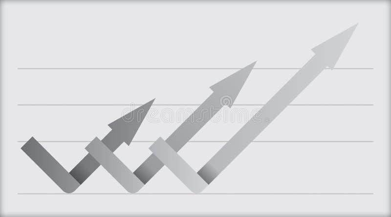 Business flow concept stock illustration
