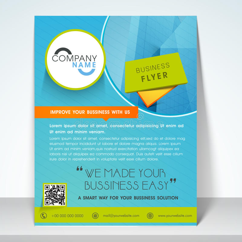 one page brochure template free - business flyer banner or template stock illustration