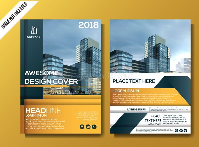 Corporate flyer background template vector illustration stock illustration