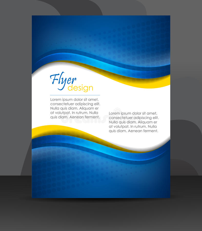 Business flyer template or corporate banner, cover design, brochure vector illustration