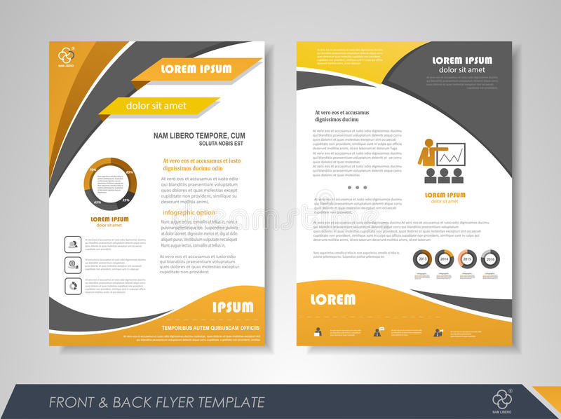 Front and back flyer template ibovnathandedecker business flyer template stock vector illustration of illustration friedricerecipe Gallery