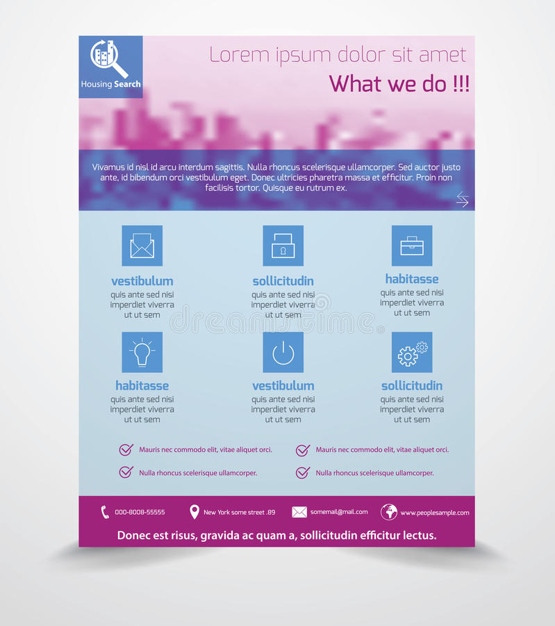 Business Flyer Template stock illustration