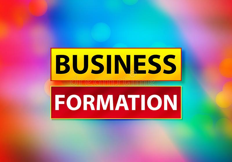 Business Formation Abstract Colorful Background Bokeh Design Illustration stock illustration