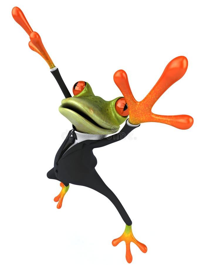 Business frog royalty free illustration