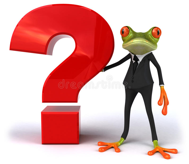 Business frog stock illustration