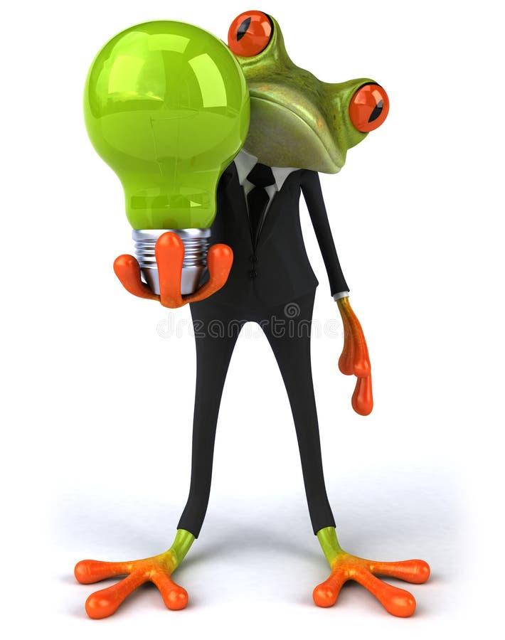 Business frog vector illustration