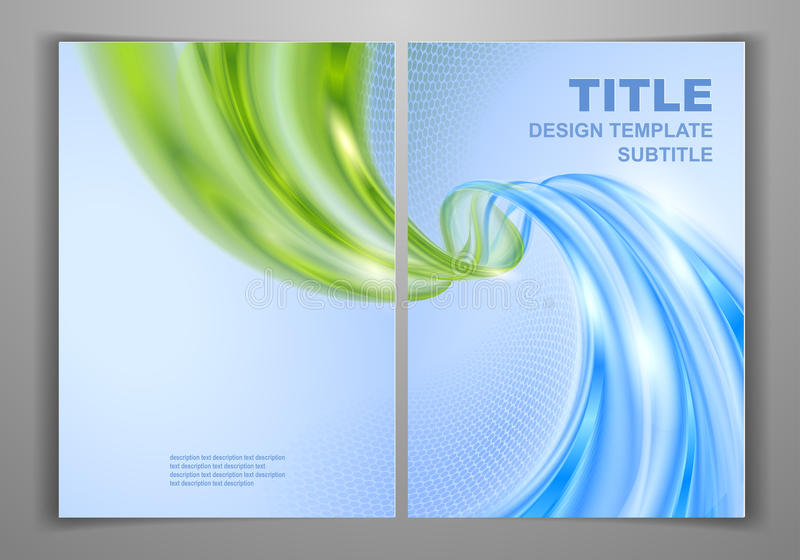 Business Front and Back Flyer Template stock illustration