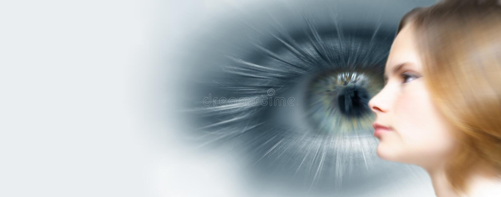 Business future vision. Metaphor for business future vision blur royalty free stock image