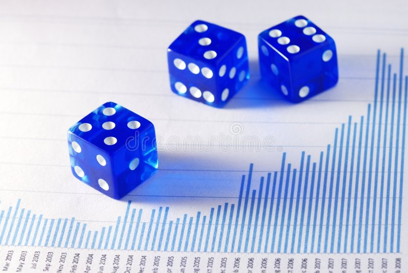 Business is a gamble stock photography