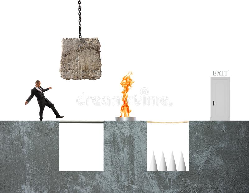 Business game royalty free stock images
