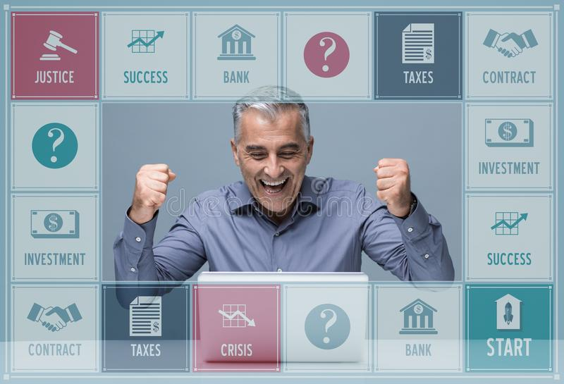 Business game royalty free stock photo