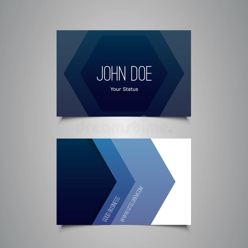Business or Gift Card Design with Blue Pattern royalty free illustration