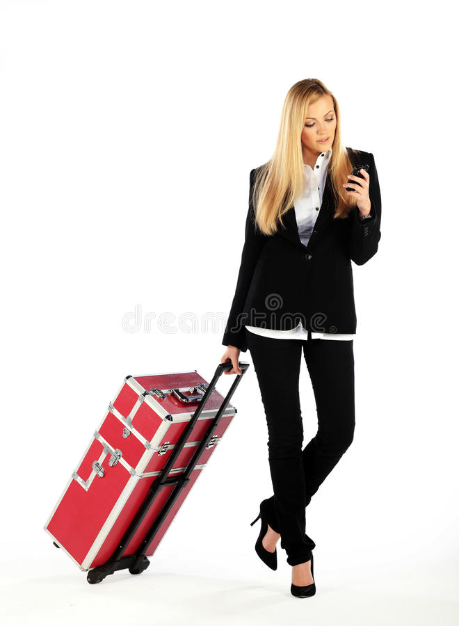 Download Business Girl On A Business Trip Stock Photo - Image of successful, modern: 17562080