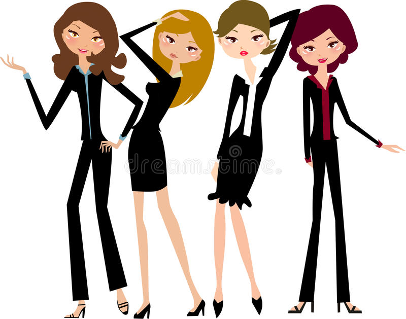 Download Business girls stock vector. Image of figure, dress, fashion - 12197074
