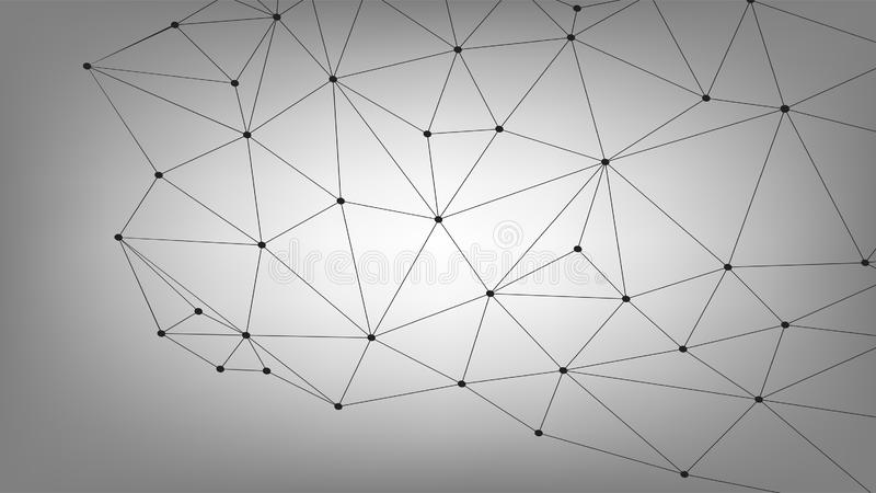 Business Global Connection, Abstract Network Connecting Dot, lines, isolated on background, Digital Technology Concept, For Web Si stock illustration