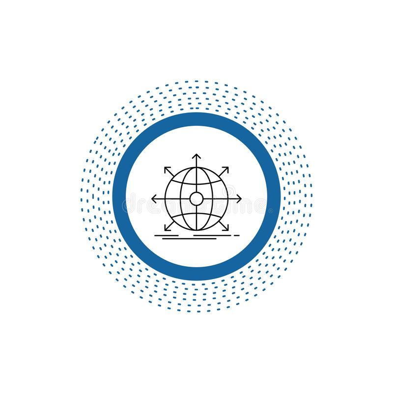 business, global, international, network, web Line Icon. Vector isolated illustration stock illustration