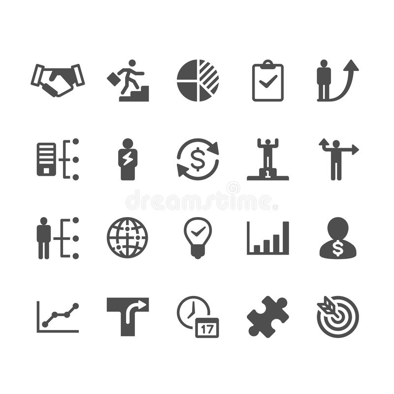 Business glyph icons stock illustration