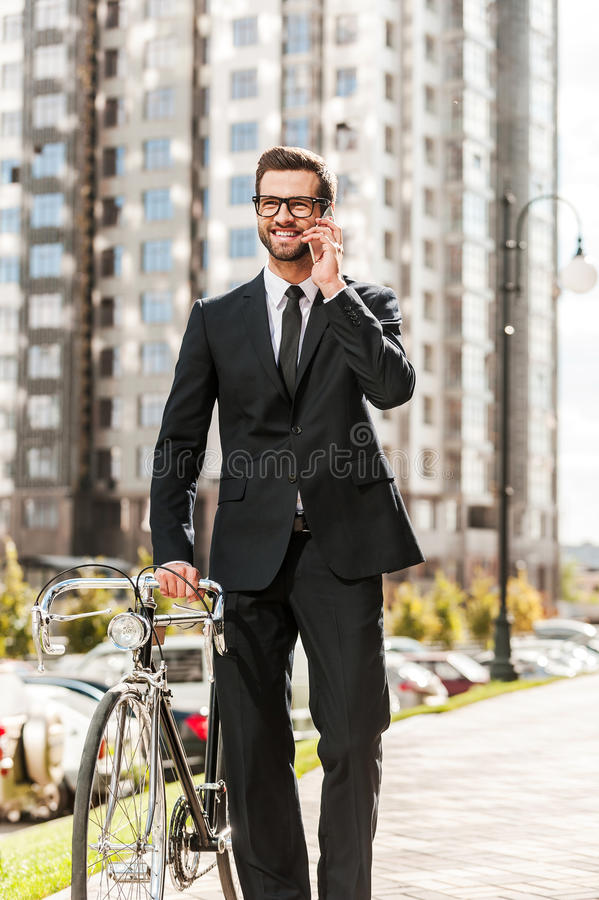 Business on the go. stock images