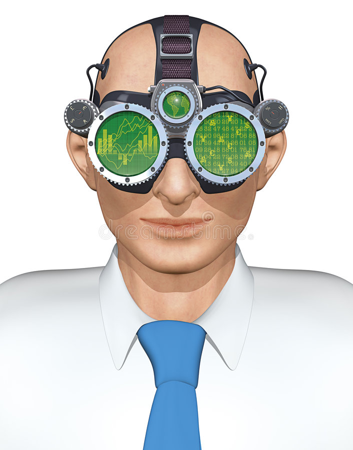 Download Business Goggles stock illustration. Illustration of brainwave - 1766991