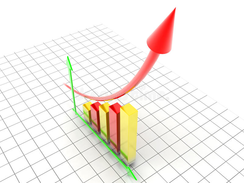 Business Graph. Profits and gains stock illustration