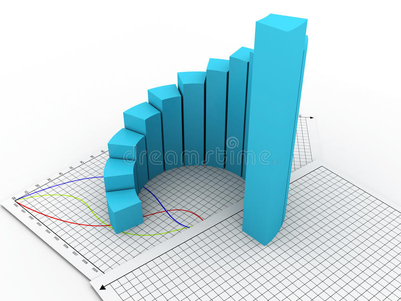 Download Business graph stock illustration. Image of increase - 27026896