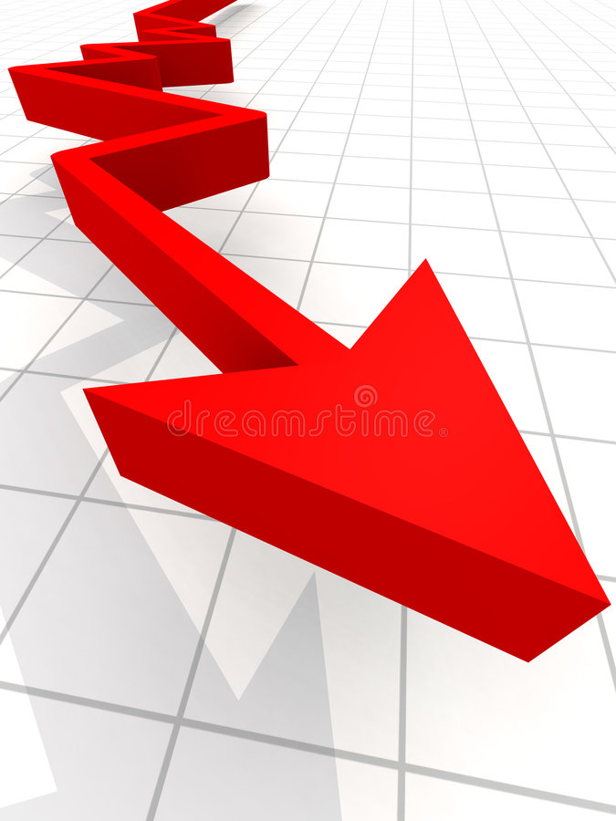 Business Graph Arrow. Business Graph with arrow showing profits and gains royalty free illustration