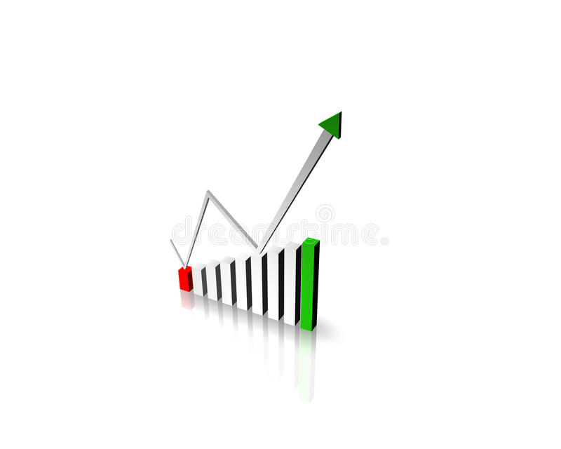 Download Business Graph With Arrow Stock Image - Image: 15754091