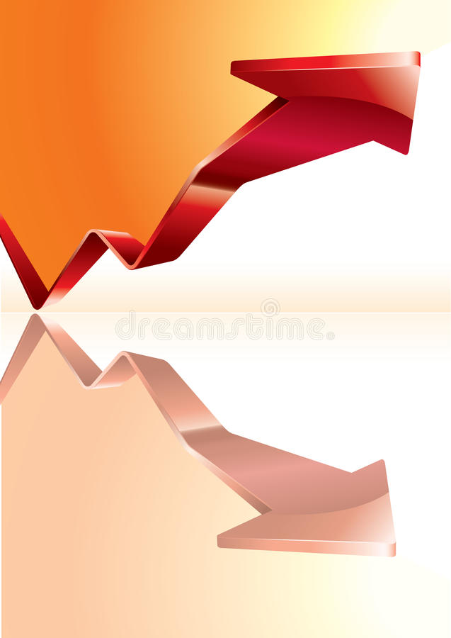 Download Business Graph with arrow stock vector. Image of building - 9829783