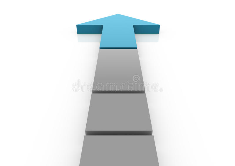 Download Business Graph Arrow Blue High Royalty Free Stock Image - Image: 15858096