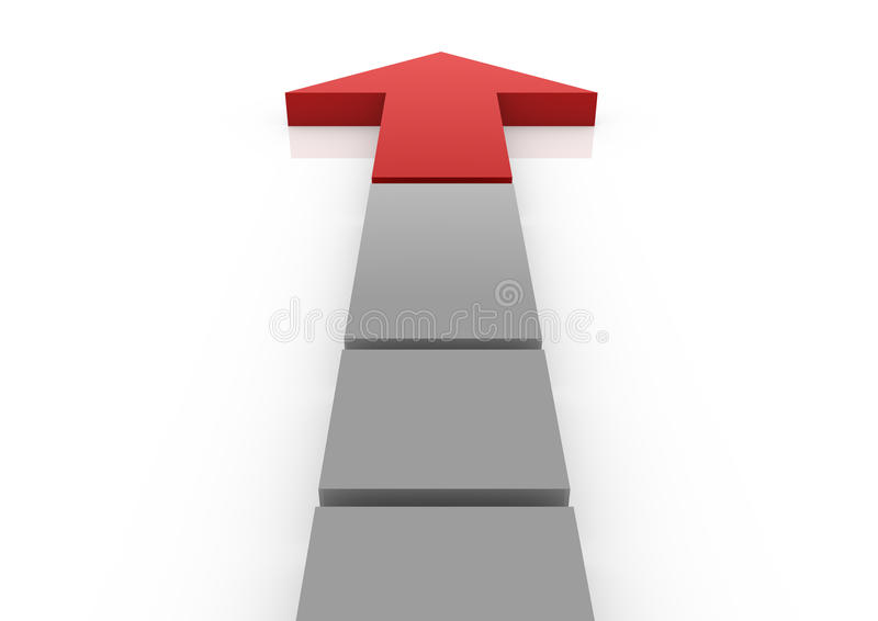 Business Graph Arrow Red High Royalty Free Stock Photo