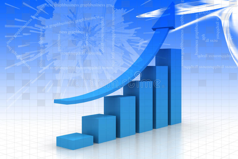 Download Business graph stock illustration. Image of achievement - 35599329