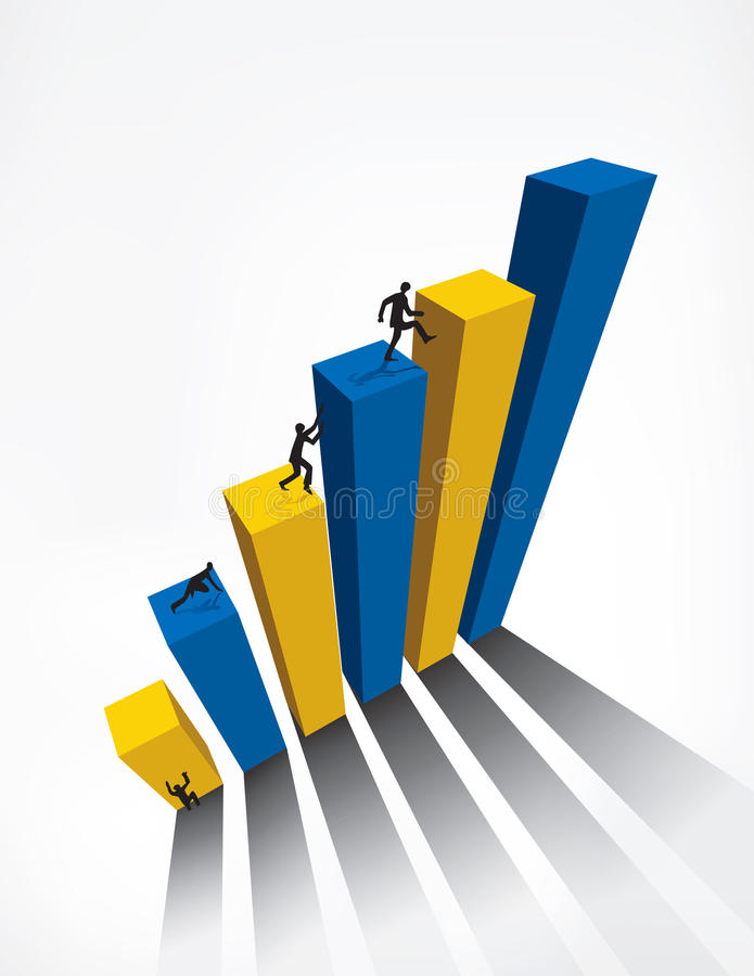Download Business Graph bar 3D stock vector. Illustration of mathematical - 25763172