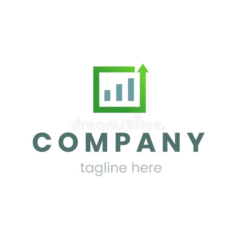 Business graph or chart logo for company. Template isolated symbol on white background, creative vector illustration. royalty free illustration