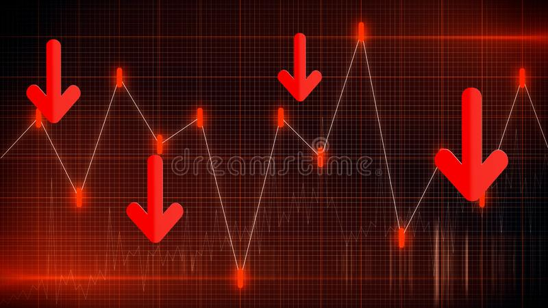 Business graph chart of stock market investment trading profit and loss. Financial chart with up trend line graph stock future. Trading royalty free illustration