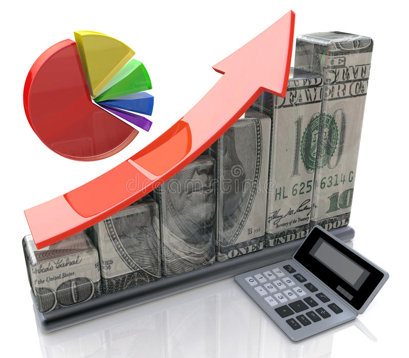 Finance and accounting concept stock photo