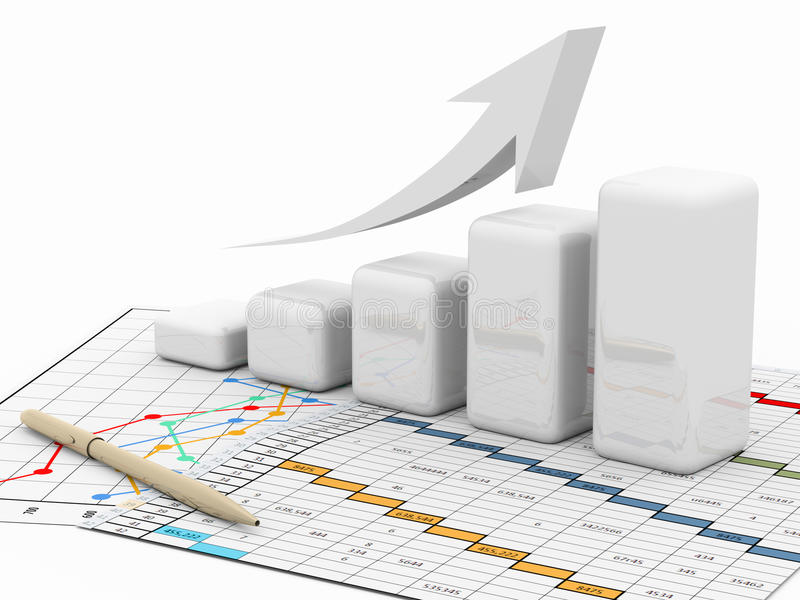 Business graph, diagram, chart, graphic stock illustration