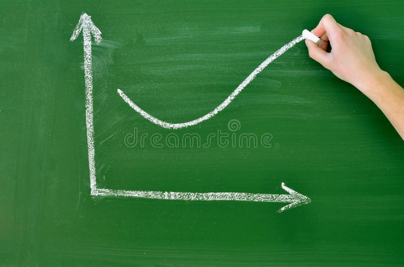 Download Business graph of growth stock photo. Image of blackboard - 19710624