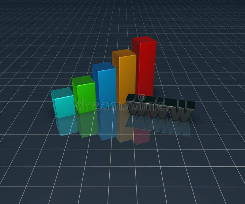 Online business vector illustration