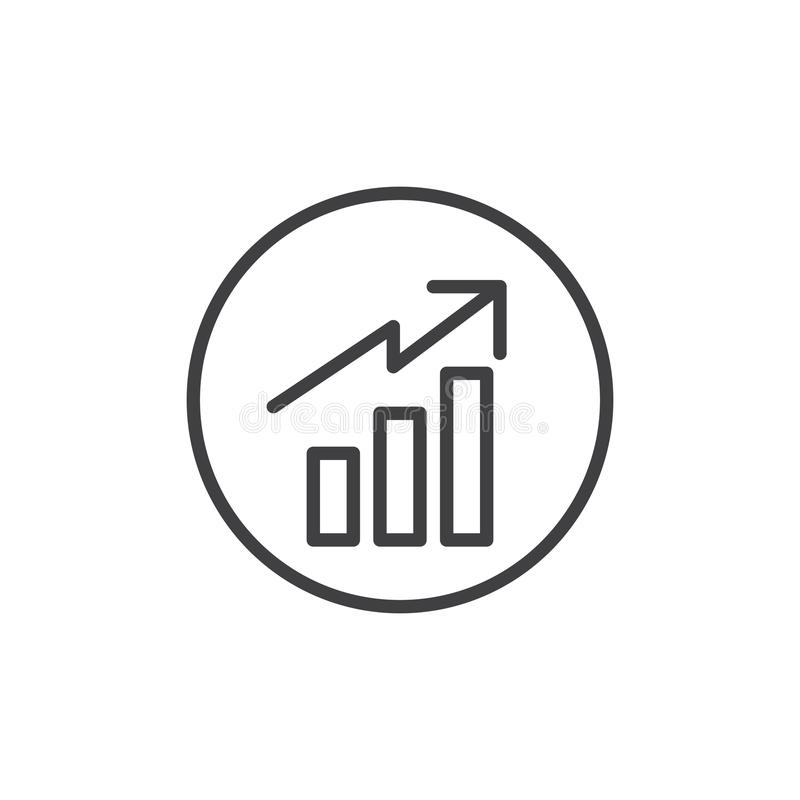Business graph line icon vector illustration