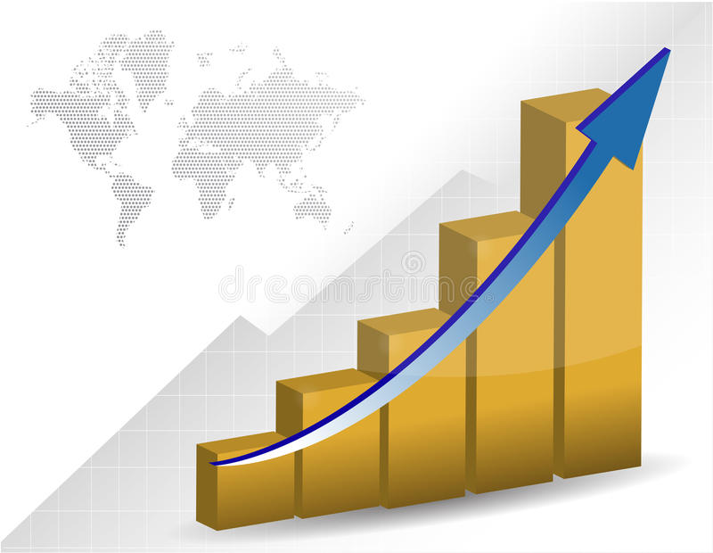 Download Business Graph And Map Royalty Free Stock Photography - Image: 20226747