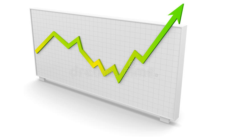 Business graph success vector illustration