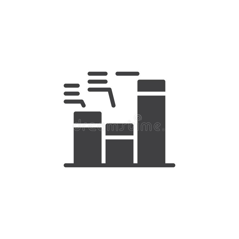 Business graph vector icon stock illustration