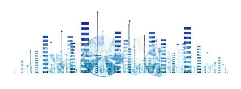 Business graphics stock illustration