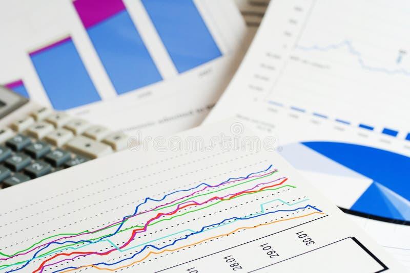 Financial accounting stock market graphs analysis stock photo