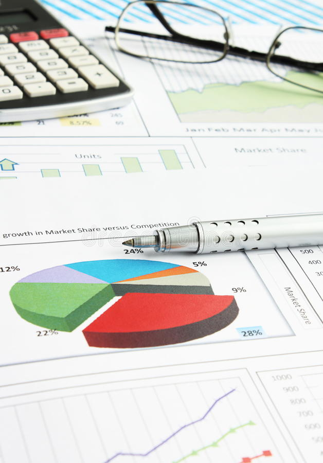 Business Graphs royalty free stock image