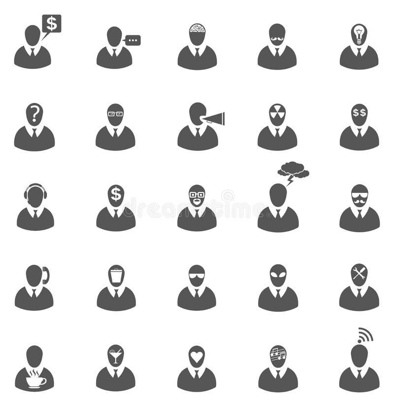Business Gray Icon Set Stock Photo