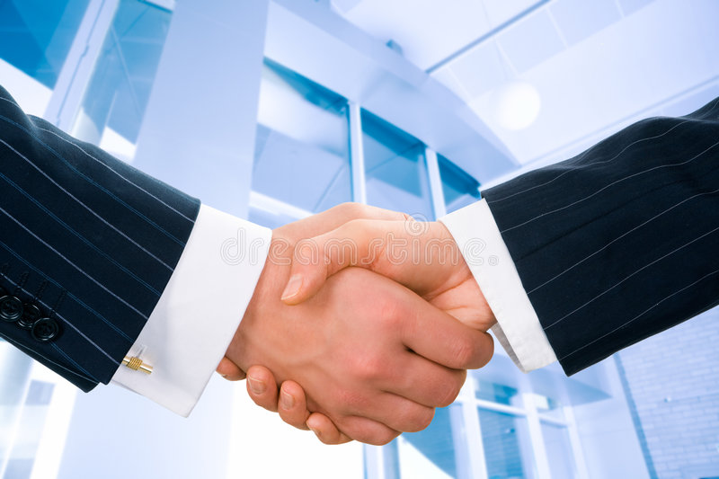Business greeting royalty free stock photos