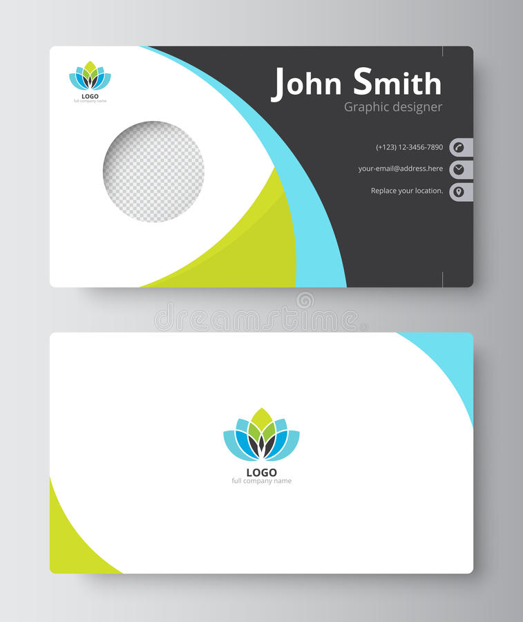 Business Greeting Card Template Design. Introduce Card Include S ...
