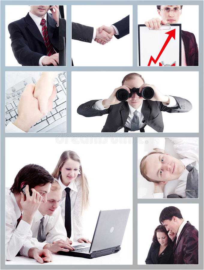 Business grid royalty free stock photos