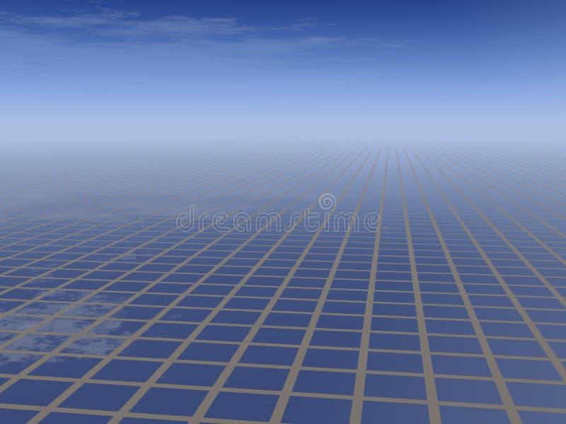 Business Grid Background stock illustration